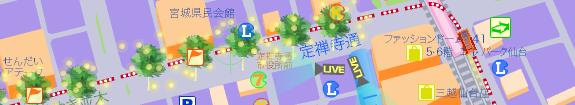 仙台 光のページェント地図